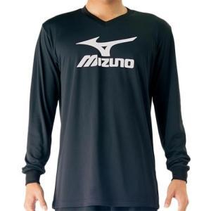ミズノ(MIZUNO) プラクティスシャツ ドレスネイビー×アトミックブルー V2MA709790 バレーボール トレーニングウェア プラシャツ 長袖|esports