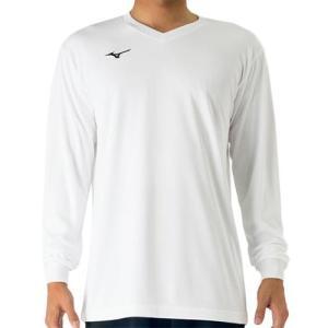 ミズノ(MIZUNO) 長袖プラクティスシャツ ホワイト V2MA709801 バレーボール トレーニングウェア プラシャツ|esports