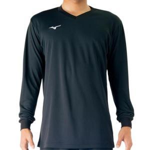 ミズノ(MIZUNO) 長袖プラクティスシャツ Jr. ブラック V2MA709809 バレーボール トレーニングウェア ジュニア プラシャツ|esports