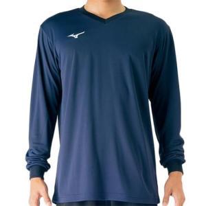 ミズノ(MIZUNO) 長袖プラクティスシャツ ドレスネイビー V2MA709814 バレーボール トレーニングウェア プラシャツ|esports