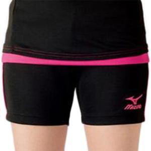 ミズノ(MIZUNO) プラクティスパンツ ブラック×ベリーピンク V2MB721097 バレーボール トレーニングウェア プラパン|esports