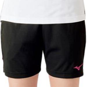 ミズノ(MIZUNO) ハーフパンツ ブラック×ベリーピンク V2MB721197 バレーボール トレーニングウェア プラパン|esports