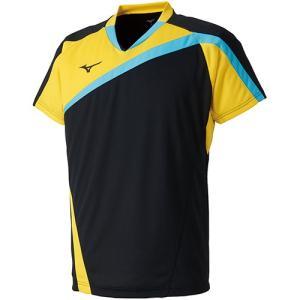 ミズノ(MIZUNO) メンズ バドミントン 半袖 ゲームシャツ ブラック 72MA800509 トレーニングウェア|esports