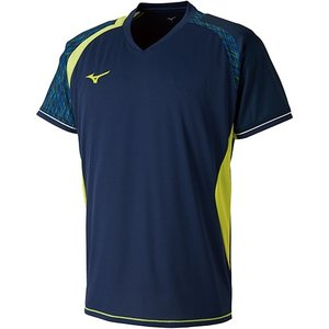 ミズノ(MIZUNO) メンズ レディース バドミントン 半袖 ゲームシャツ ドレスネイビー 72MA800714 トレーニングウェア|esports