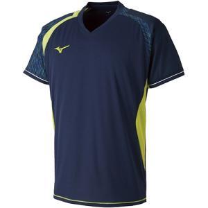 ミズノ(MIZUNO) ジュニア バドミントン 半袖 ゲームシャツ ドレスネイビー 72MA800714 トレーニングウェア キッズ 男の子 女の子|esports