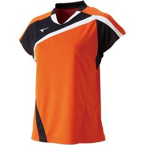 ミズノ(MIZUNO) レディース バドミントン 半袖 ゲームシャツ フレイムオレンジ 72MA820553 バドミントンウェア Tシャツ 練習着 ウィメンズ|esports