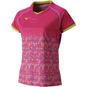 ミズノ(MIZUNO) レディース バドミントン 半袖 ゲームシャツ ベリーピンク 72MA820664 バドミントンウェア Tシャツ 練習着 ウィメンズ|esports