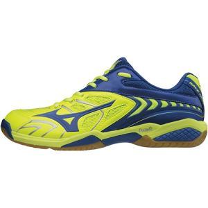 ミズノ(MIZUNO) バドミントンシューズ メンズ レディース ウエーブファング SS2 イエロー×ブルー×シルバー 71GA171026 バドミントン シューズ 靴|esports