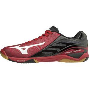 ミズノ(MIZUNO) 卓球シューズ ウエーブドライブ Z レッド×ホワイト×ブラック 81GA160062 卓球 シューズ 靴 メンズ レディース
