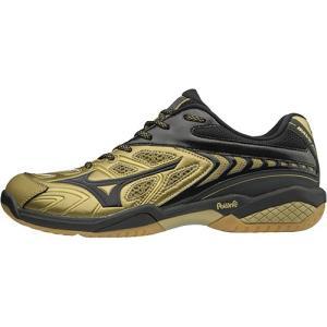 ミズノ(MIZUNO) メンズ レディース バドミントンシューズ ウエーブファング SS2 ゴールド×ブラック 71GA171099 バドミントン バトミントン シューズ 靴|esports