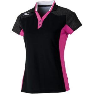ミズノ(MIZUNO) レディース ゲームシャツ 62JA621509 バドミントンウェア テニスウェア 半袖シャツ|esports