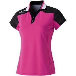 ミズノ(MIZUNO) レディース ゲームシャツ 62JA621564 バドミントンウェア テニスウェア 半袖シャツ|esports