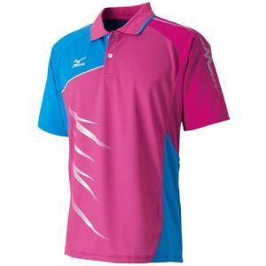 ミズノ(MIZUNO) ゲームシャツ ベリーピンク 62JA611164 バドミントンウェア トップス メンズレディース ポロシャツ|esports
