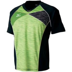 ミズノ(MIZUNO) ゲームシャツ グリーンゲッコー 82JA700237 卓球ウェア ユニフォーム トレーニングウェア メンズ レディース|esports