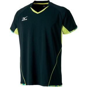ミズノ(MIZUNO) ゲームシャツ ブラック 82JA700609 卓球ウェア ユニフォーム トレーニングウェア メンズ レディース|esports