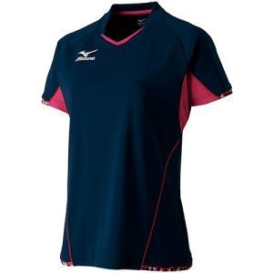 ミズノ(MIZUNO) ゲームシャツ (レディース) ドレスネイビー 82JA720414 卓球ウェア ユニフォーム トレーニングウェア|esports