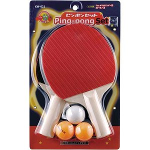 カワセ(KAWASE) 卓球ボールラケットセットシェイクハンド KW-021 卓球セット ガッテン ピン球|esports