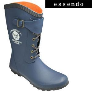アルファ/レースアップレインブーツ/AF-R4000(ダークネイビー)/メンズ 靴|essendo