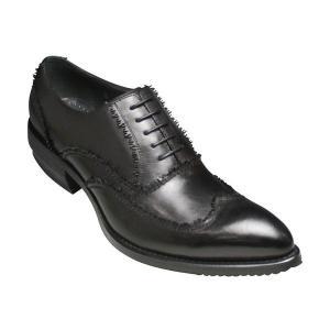 【BLACK LIST(ブラックリスト)】半額!ダメージ仕上げウイングチップ・BC30780(ブラック)/メンズ 靴 essendo