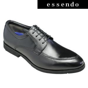 ビジネスシューズビー/Uチップ・ポインテッドトゥビジネスシューズ BE4521(ブラック)/防水設計/メンズ 靴|essendo