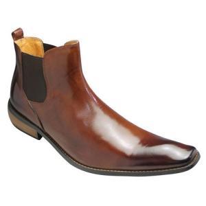 バンプ アンド グラインド/サイドゴアブーツ(バッファローカーフ)/BG2819(キャメル)/ロングノーズ/脚長/メンズ 靴|essendo