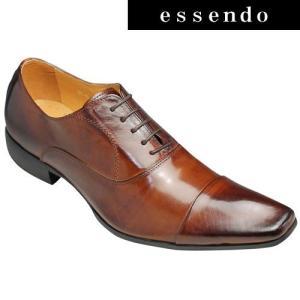 バンプ アンド グラインド/牛革ドレスシューズ(ストレートチップ)/BG6031(キャメル)/脚長・美脚/メンズ 靴|essendo