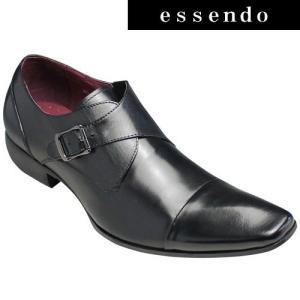バンプ アンド グラインド/牛革ドレスシューズ(モンクストラップ)/BG6032(ブラック)/脚長・美脚/メンズ 靴|essendo