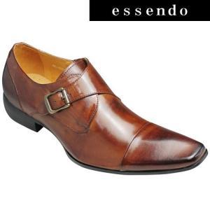 バンプ アンド グラインド/牛革ドレスシューズ(モンクストラップ)/BG6032(キャメル)/脚長・美脚/メンズ 靴|essendo