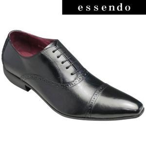 バンプ アンド グラインド/牛革ドレスシューズ(パーフォレーション)/BG6033(ブラック)/脚長・美脚/メンズ 靴|essendo