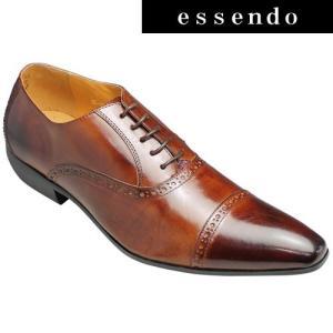 バンプ アンド グラインド/牛革ドレスシューズ(パーフォレーション)/BG6033(キャメル)/脚長・美脚/メンズ 靴|essendo