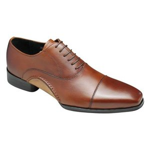 バンプ アンド グラインド/牛革ドレスシューズ ストレートチップ/BG7010 ブラウン/ロングノーズ/メンズ 靴|essendo