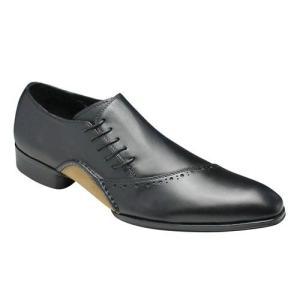 バンプ アンド グラインド/牛革ドレスシューズ サイドシューレース/BG7011 ブラック/ロングノーズ/メンズ 靴|essendo