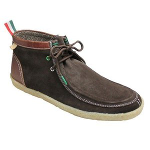 ベネトン/ブーツ ワラビーブーツ/BN2002 ダークブラウンコンビ/メンズ 靴|essendo