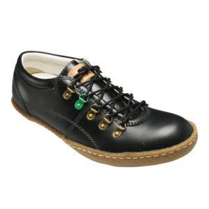 【BENETTON(ベネトン)】オシャレなカラーリングの牛革タウンスニーカー・BN5001(ブラック)/メンズ 靴|essendo