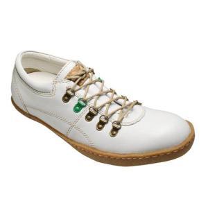 【BENETTON(ベネトン)】オシャレなカラーリングの牛革タウンスニーカー・BN5001(ホワイト)/メンズ 靴|essendo
