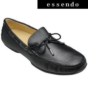 MODELLO(モデロ)/牛革ドライビングシューズ/DM2020(ブラック)/3E幅広/マッケイ製法/エピ型押し/メンズ 靴|essendo
