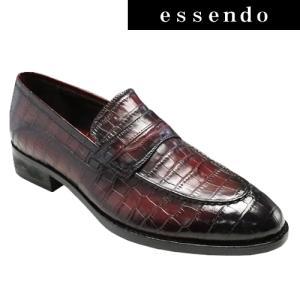 ドレスシューズモデロ/人気のクロコ型押しドレス&カジュアルスリップオン・DM5052(レッド)/MODELLO メンズ 靴|essendo