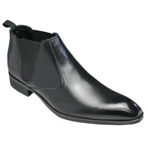 ELLE HOMME(エル オム)/牛革サイドゴアブーツ/EH1329(ブラック)/ロングノーズ/メンズ 靴 essendo