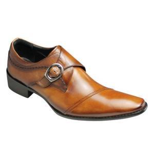 ELLE HOMME(エル オム)/EH7031(ライトブラウン)/日本製ロングノーズの変型ストレートチップ/ドレスカジュアル/メンズ 靴 essendo
