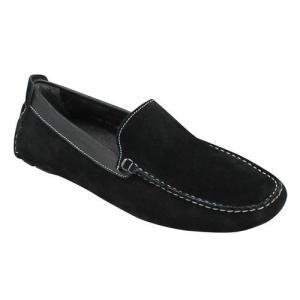 エル オム/カジュアルシューズ ドライビングシューズ モカシン/EH8005 ブラック/牛革スエード/メンズ 靴 essendo