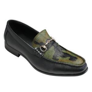 essendo selection(エセンドセレクション)/EX012(カモフラージュ)/牛革×ハラココンビの個性的なビットローファー/メンズ 靴|essendo