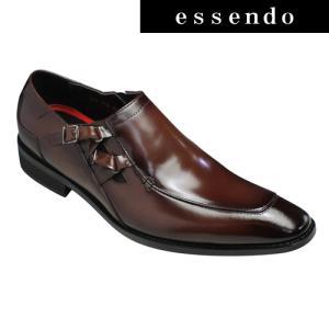 フランコルッチ ビジネスシューズ クロスサイドベルト FL3732 ダークブラウン FRANCO LUZI メンズ 靴 essendo