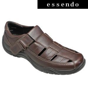 サンダルフレキシー/メキシコ製の甲ベロクロベンチレーションシューズ・fx19122(ブラウン)/flexi メンズ 靴|essendo