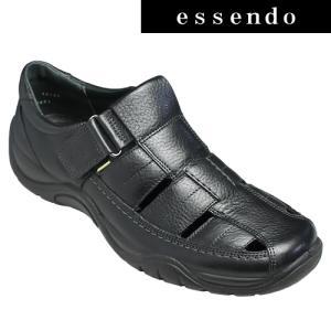 サンダルフレキシー/メキシコ製の甲ベロクロベンチレーションシューズ・fx19123(ブラック)/flexi メンズ 靴|essendo