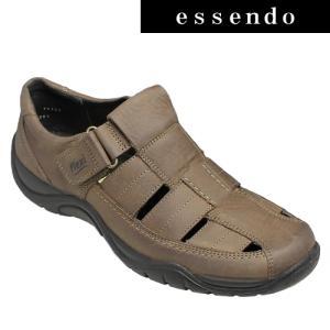 サンダルフレキシー/メキシコ製の甲ベロクロベンチレーションシューズ・fx19123(ダークブラウン)/flexi メンズ 靴|essendo