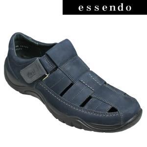 サンダルフレキシー/メキシコ製の甲ベロクロベンチレーションシューズ・fx19123(ネイビー)/flexi メンズ 靴|essendo
