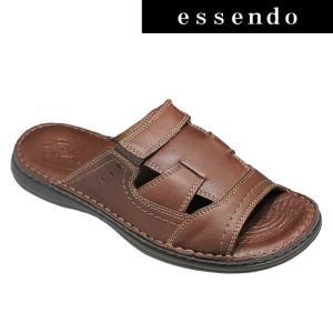 サンダルフレキシー/メキシコ製の牛革のスポーツサンダル・fx96703(ブラウン)/flexi メンズ 靴|essendo