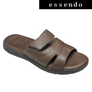 サンダルフレキシー/メキシコ製の牛革のスポーツサンダル・fx98702(ダークブラウン)/flexi メンズ 靴|essendo