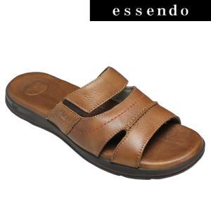 サンダルフレキシー/メキシコ製の牛革のスポーツサンダル・fx98702(ライトブラウン)/flexi メンズ 靴|essendo