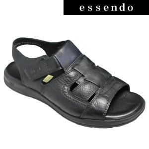 サンダルフレキシー/メキシコ製の牛革のスポーツサンダル(バックベルト)・fx98703(ブラック)/flexi メンズ 靴|essendo